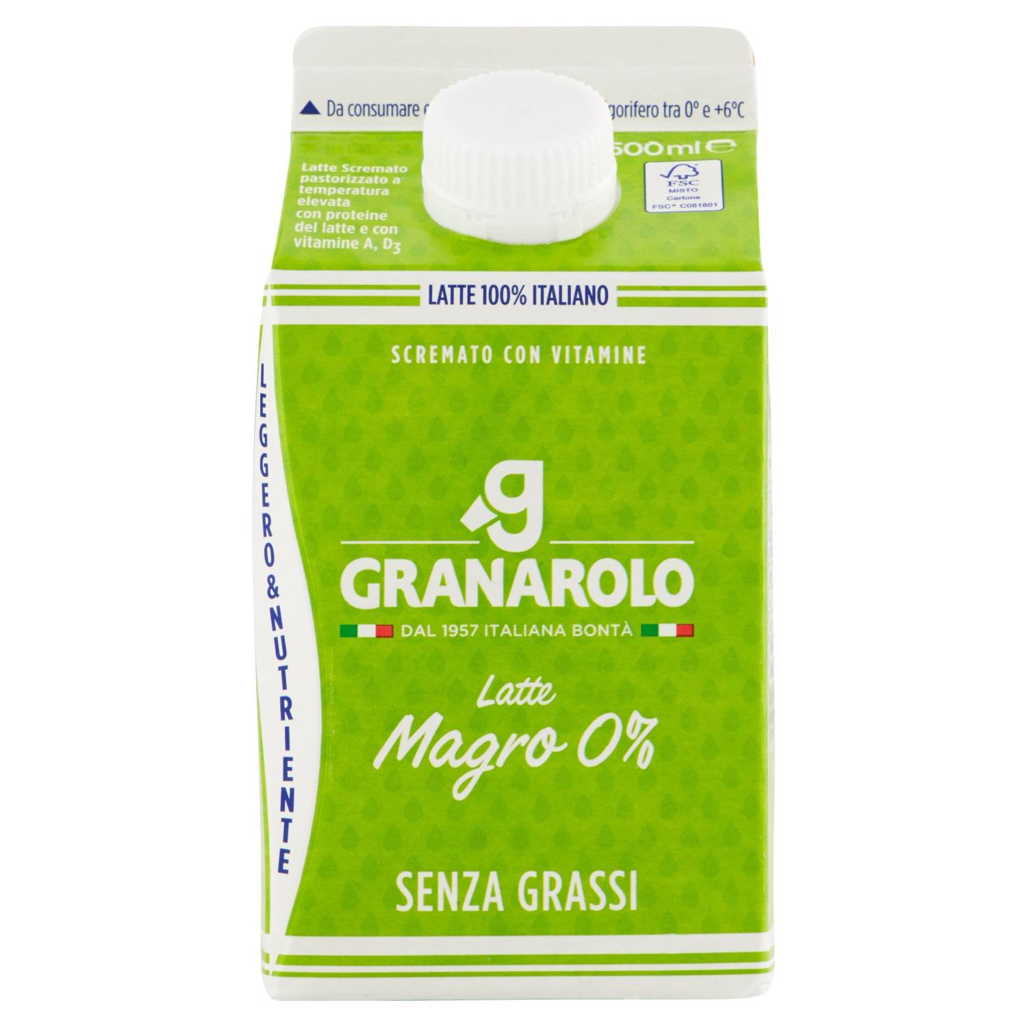 GRANAROLO LATTE FRESCO SCREMATO ML.500